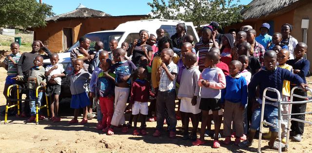 Our children with the bakkie